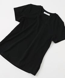 AZUL BY MOUSSY(アズールバイマウジー)のBASIC SHORT SLEEVE V NECK TEE/ベーシックショートスリーブVネックTEE(Tシャツ/カットソー)