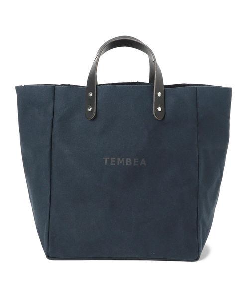 こども ビームス(コドモビームス)の「TEMBEA × こども ビームス / 別注 マザートート ロゴ 2(トートバッグ)」|ネイビー