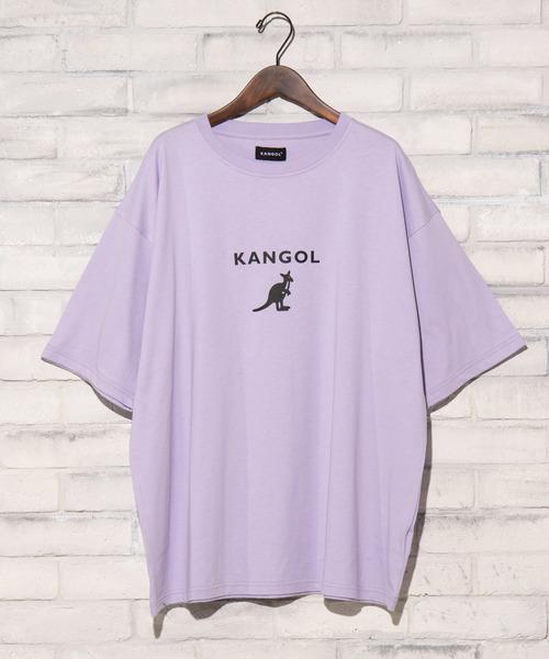 KANGOL(カンゴール)の「∴WEGO/KANGOL別注プリントTシャツ(Tシャツ/カットソー)」 ライトパープル
