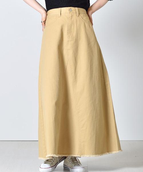 デニムフレアスカート
