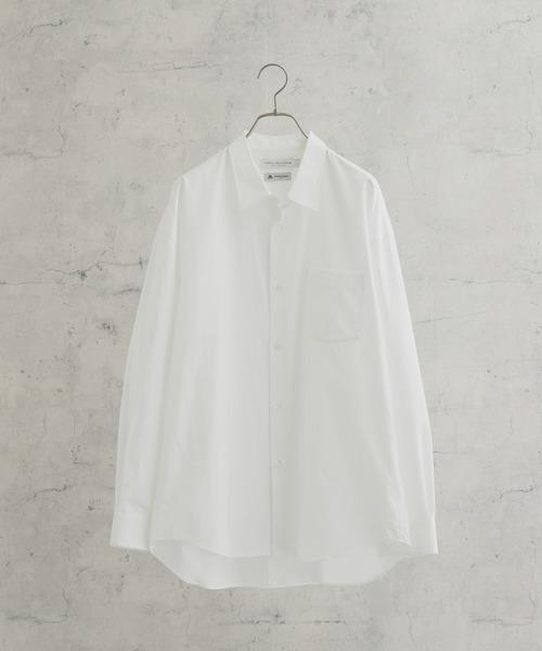THOMAS MASON(トーマス メイソン)の「トーマスメイソンオーバーシャツ(シャツ/ブラウス)」|ホワイト