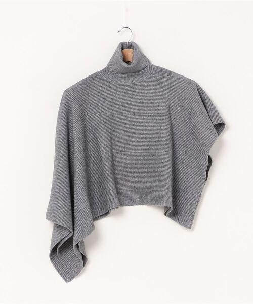 【chuclla】【2020/AW】Shawl-knit poncho chw1377