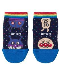 ANPANMAN KIDS COLLECTION(アンパンマンキッズコレクション)の【アンパンマン】滑り止め加工 日本製さかさまドットショートソックス(ソックス/靴下)