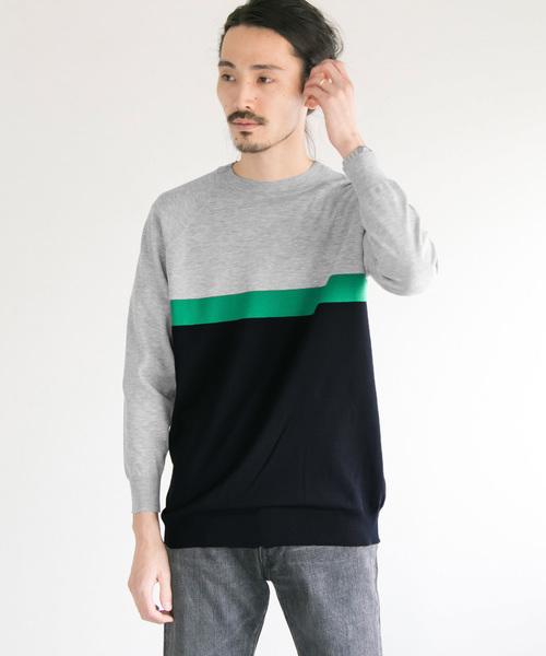 14G Plain Crew-Neck Knit