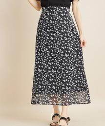 tocco closet(トッコ クローゼット)のパール付きフラワープリントスカート(スカート)
