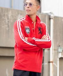 GIORDANO(ジョルダーノ)の[GIORDANO]チャンピオン ラグビー刺繍 長袖ポロシャツ(ポロシャツ)