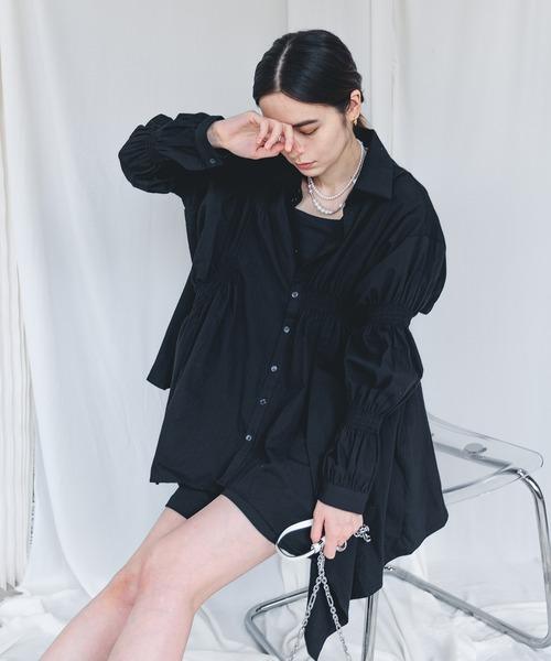 【chuclla】【2021/AW】Oversize irregular hem shirt chw21a004