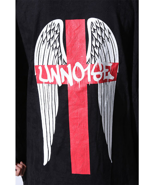 UNNO1SE Cross Feather Sleeve Lessシャツ