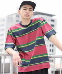 ビッグシルエットマルチボーダーTシャツ1(UTILITY LINE)