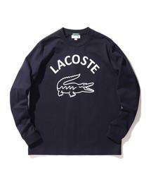 LACOSTE(ラコステ)のLACOSTE × BEAMS / 別注 ビッグ ワニ ロングスリーブ Tシャツ(Tシャツ/カットソー)