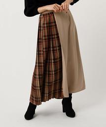 AZUL BY MOUSSY(アズールバイマウジー)のCHECK PLEAT MIX SKIRT/チェックプリーツミックススカート(スカート)