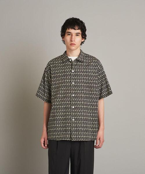 <Steven Alan> TRANGL/P CAMP COLLAR SHORT SLEEVE SHIRT-LOOSE/シャツ