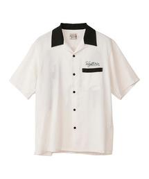 BAD LUCK刺繍 ボーリングシャツホワイト