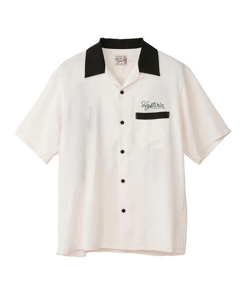 BAD LUCK刺繍 ボーリングシャツ