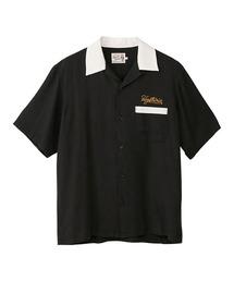 BAD LUCK刺繍 ボーリングシャツブラック