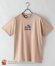 【TOM AND JERRY/トムとジェリー】 別注プリントTシャツベージュ