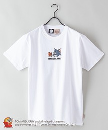 【TOM AND JERRY/トムとジェリー】 別注プリントTシャツホワイト系その他