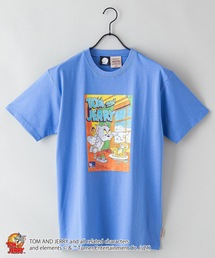 【TOM AND JERRY/トムとジェリー】 別注プリントTシャツブルー