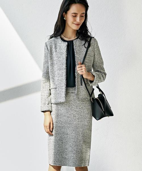 [WEB限定] D ツイード ジャケット / スカート セット