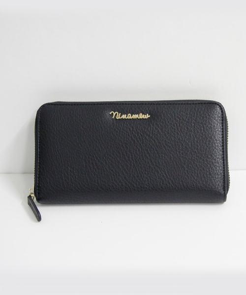 nina mew(ニーナミュウ)の「Ninamewロゴ長財布(財布)」|ブラック