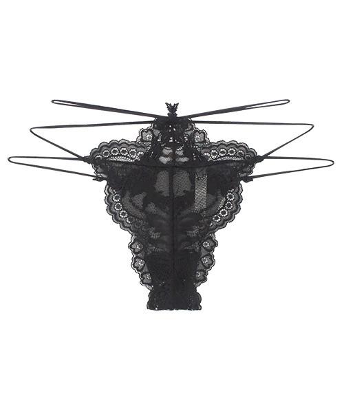 ANNEBRA(アンブラ)の「「ANNEBRA/アンブラ」 デザインGストリングショーツ(ショーツ)」|ブラック