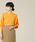 TIARA(ティアラ)の「横リブドルマンニット(ニット/セーター)」|オレンジ