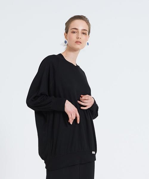 THEATRE PRODUCTS(シアタープロダクツ)の「コットン針抜きスムース プルオーバー(Tシャツ/カットソー)」 ブラック