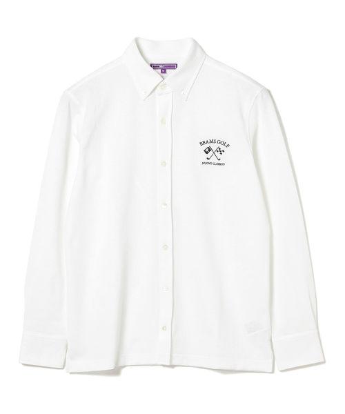 2019新作モデル BEAMS GOLF PURPLE LABEL / ストライプ ボタンダウン フルボタンポロシャツ, 石垣市特産品販売センター fcb7f1a3