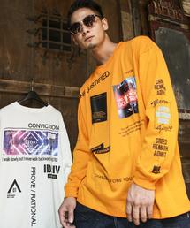 ADMIX/ATELIER SAB MEN(アドミックスアトリエサブメン)のルーズサイズ / ビッグシルエット ロングスリーブTシャツ オーバーサイズ プリント(Tシャツ/カットソー)