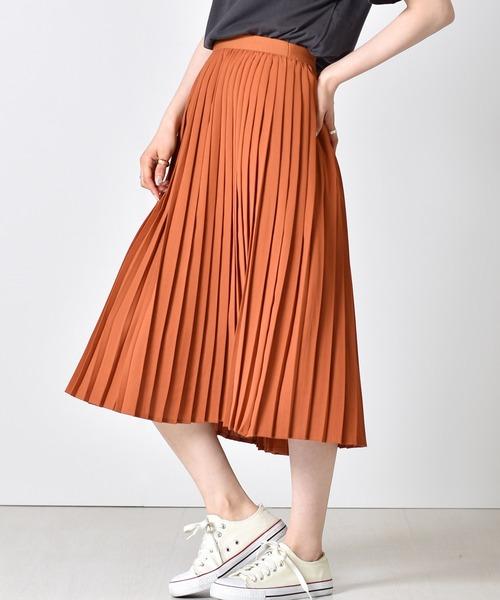 ミディプリーツスカート
