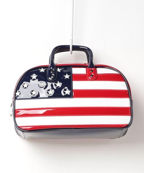 U.S.FLAG ENAMEL LETHER CART BAG
