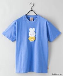 【MIFFY/ミッフィー】プリントTシャツブルー