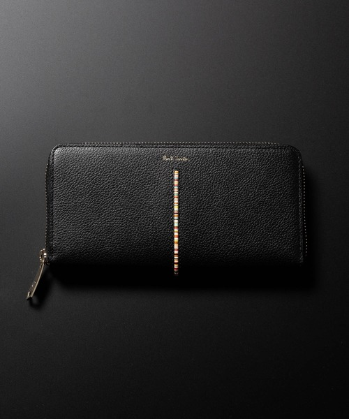 d7348836cff5 Paul Smith(ポール・スミス)のINSET MULTI STRIPE ROUND ZIP WALLET / 873409