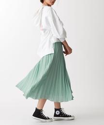 【EMMEL REFINES】FC PEツイル カラー プリーツスカート