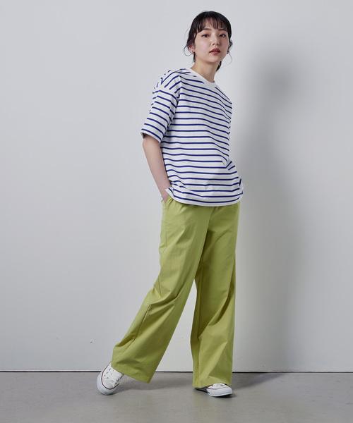 ヘビーウェイトコットンクロップドTシャツ(パターンオーダー)/ホワイト×レッド[WOMEN]