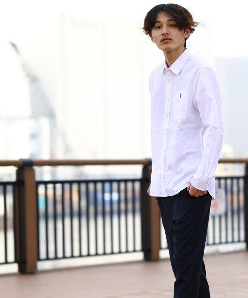 [GIORDANO]コットンリネン長袖シャツ