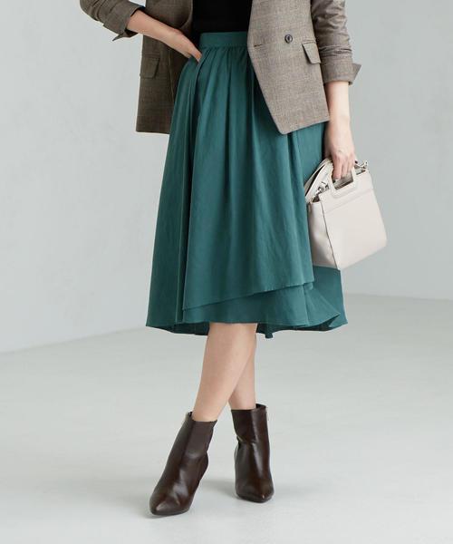 CS アシメ ギャザー スカート