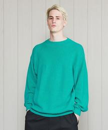 <H>COTTON NYLON KNIT PULLOVER/ニット