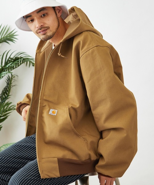 carhartt(カーハート) Thermal-Lined Duck Active Jacket サーマルライナー フードジャケット