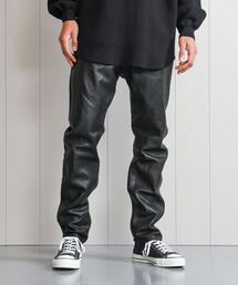 <H>LEATHER 5POCKET PANTS/パンツ