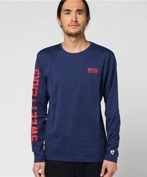 SY32 by SWEET YEARS(エスワイサーティトゥバイスィートイヤーズ)のアームロゴ ロングTシャツ(7123-2 T)(Tシャツ/カットソー)