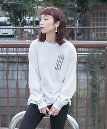 X-girl(エックスガール)の#1 X-girl x GIRL SKATEBOARDS L/S BIG TEE(Tシャツ/カットソー)