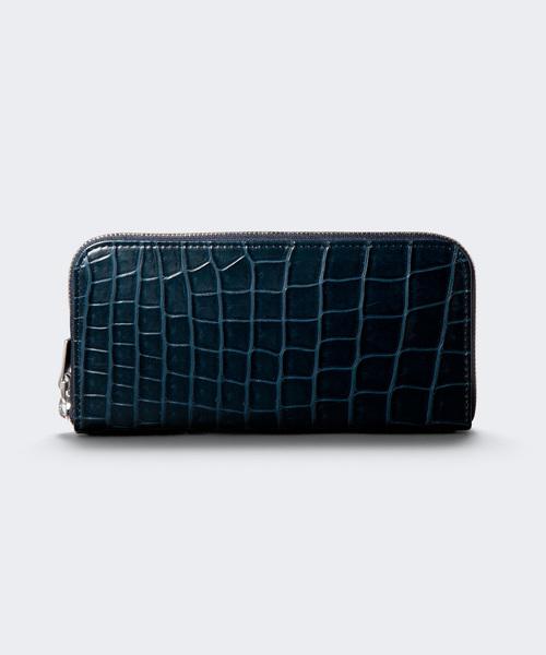 (お得な特別割引価格) ラウンドファスナー長財布(リアルクロコレザー), 甲府市 8565af5f