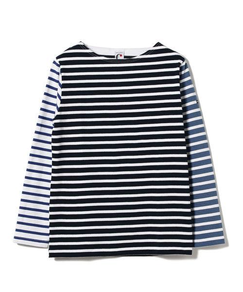 CHANTECLAIR × BEAMS LIGHTS / 別注 クレイジー マルチボーダー バスクシャツ