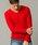 London Denim(ロンドンデニム)の「ライトシャギーニットソー / Vネック(長袖)(Tシャツ/カットソー)」|レッド