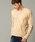 London Denim(ロンドンデニム)の「ライトシャギーニットソー / Vネック(長袖)(Tシャツ/カットソー)」|ライトベージュ