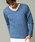 London Denim(ロンドンデニム)の「ライトシャギーニットソー / Vネック(長袖)(Tシャツ/カットソー)」|ブルー