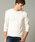 London Denim(ロンドンデニム)の「ライトシャギーニットソー / Vネック(長袖)(Tシャツ/カットソー)」|アイボリー