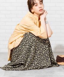 【新色入荷/WEB限定カラー】プリントタックロングスカート#