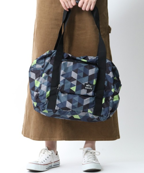 【 nifty colors / ニフティーカラーズ 】Rain travel boston bag・・